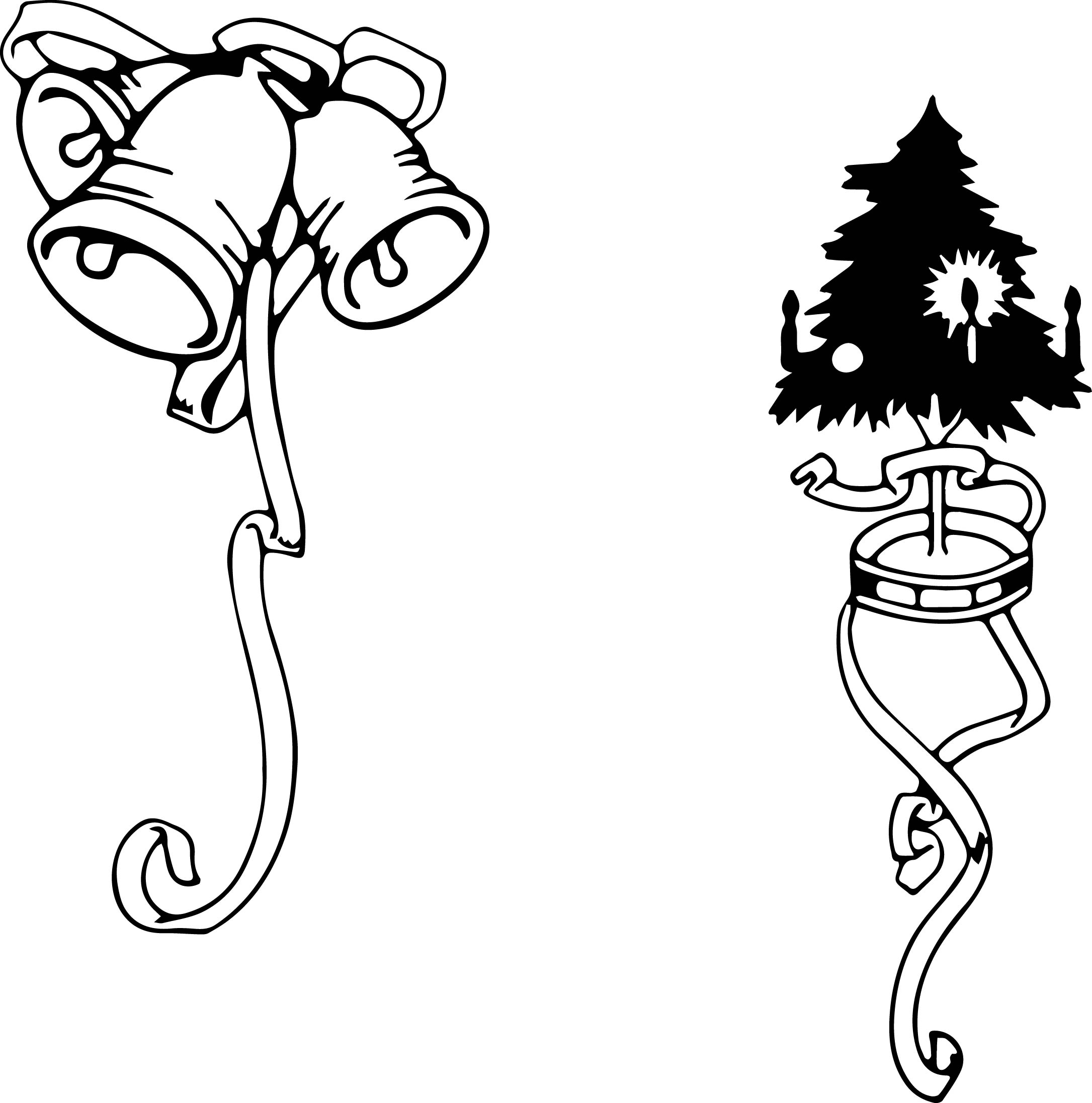 Clip Art Ornament Black And White Christmas ornament clipart