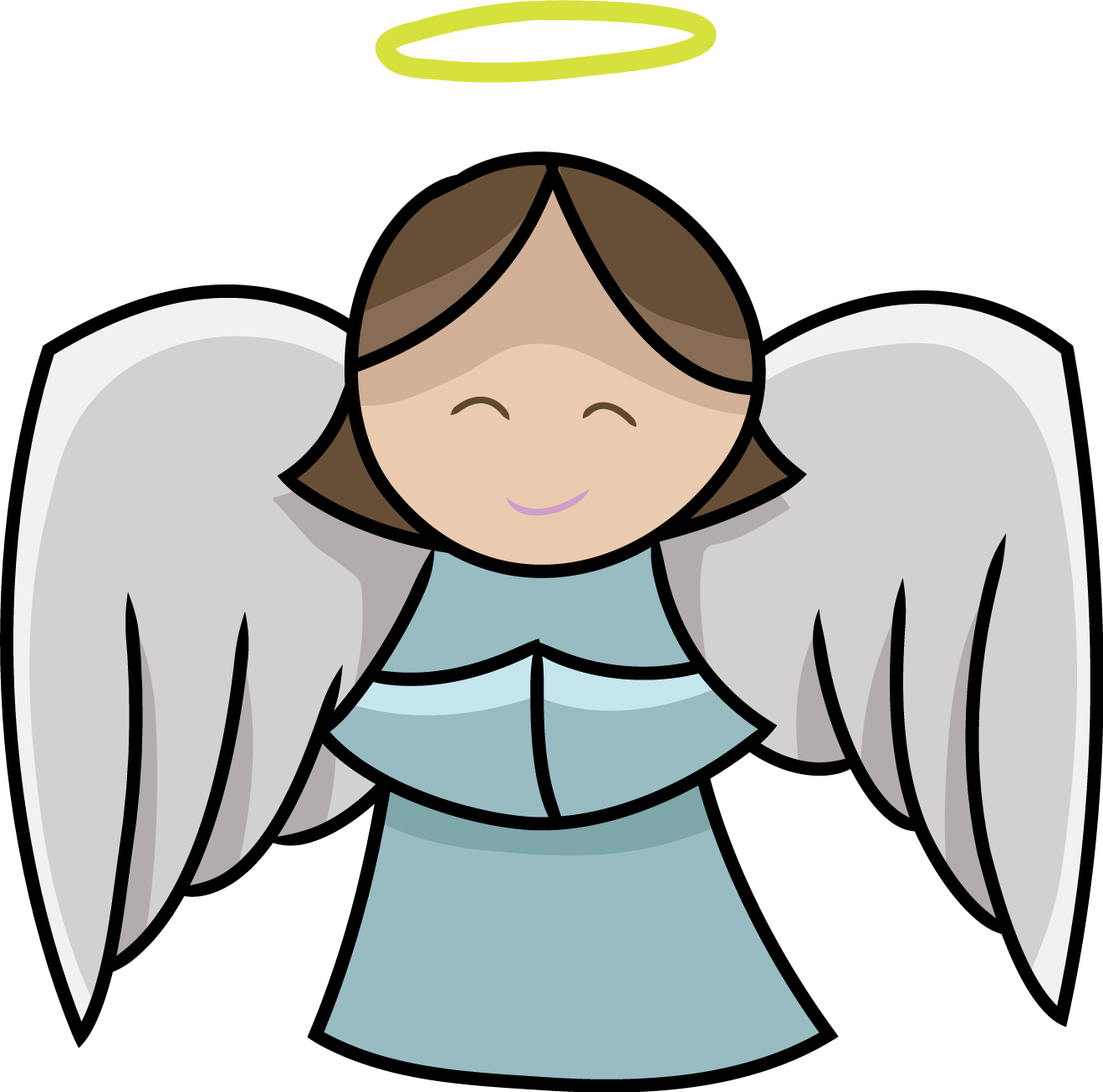 Angel Clipart Free Black And White - 110.6KB