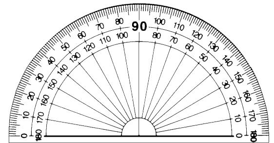 Protractor clipart ha96lqtw clipart panda free clipart for Circular protractor template