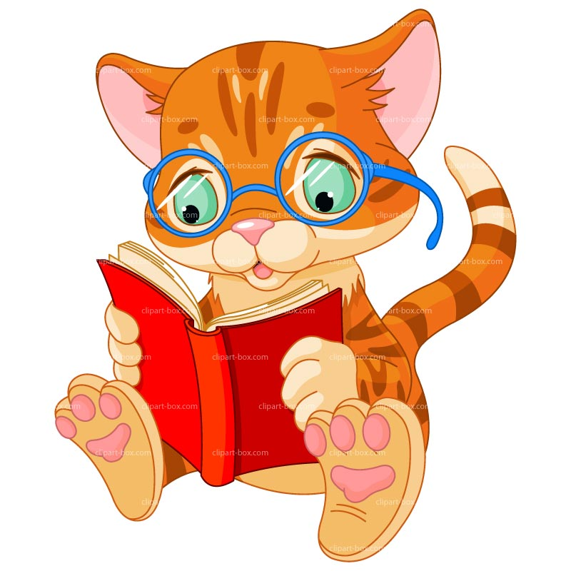 free clip art animals reading books - photo #1