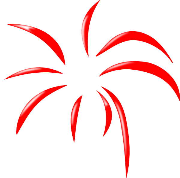 Red Simple Firework clip art