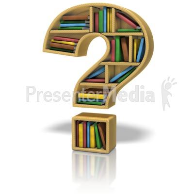 Animated Question Mark Clip Art Bookshelf