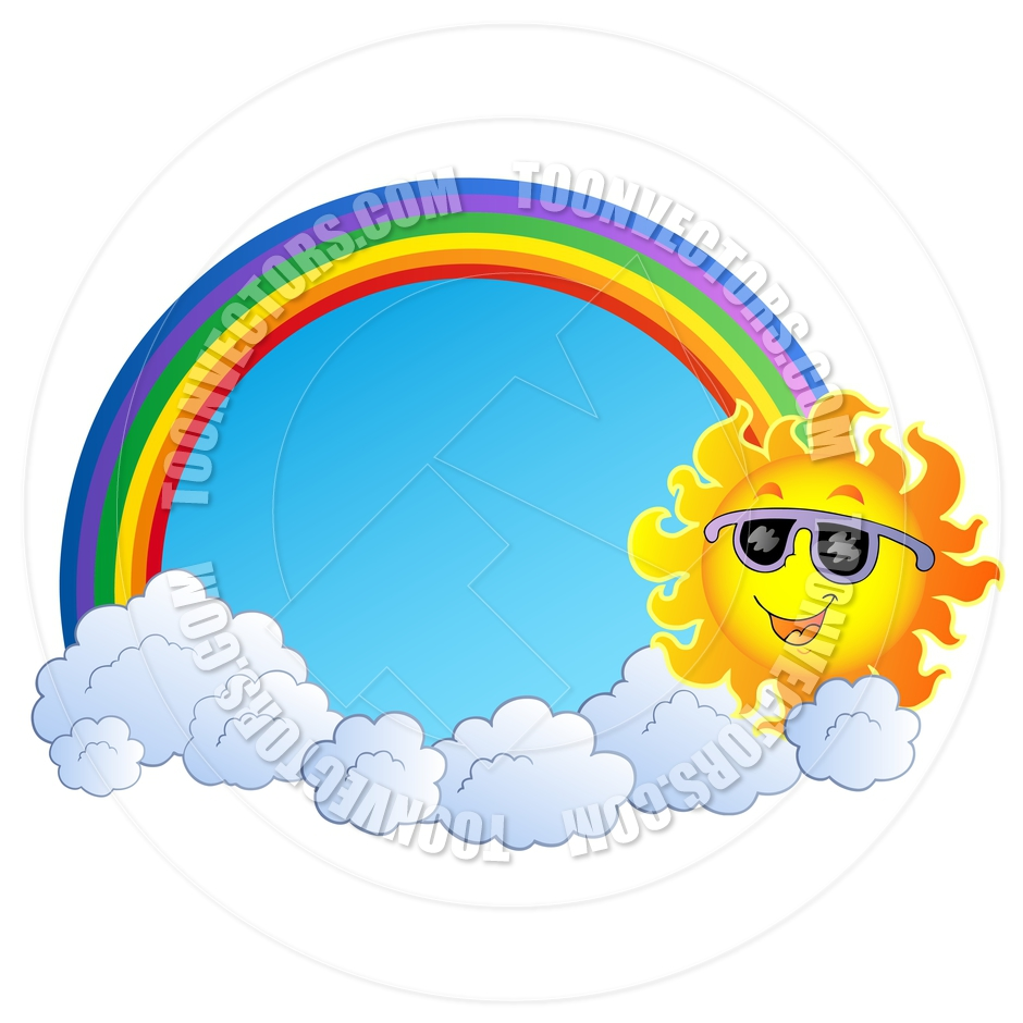 Cartoon Rainbow with Sun and | Clipart Panda - Free ...