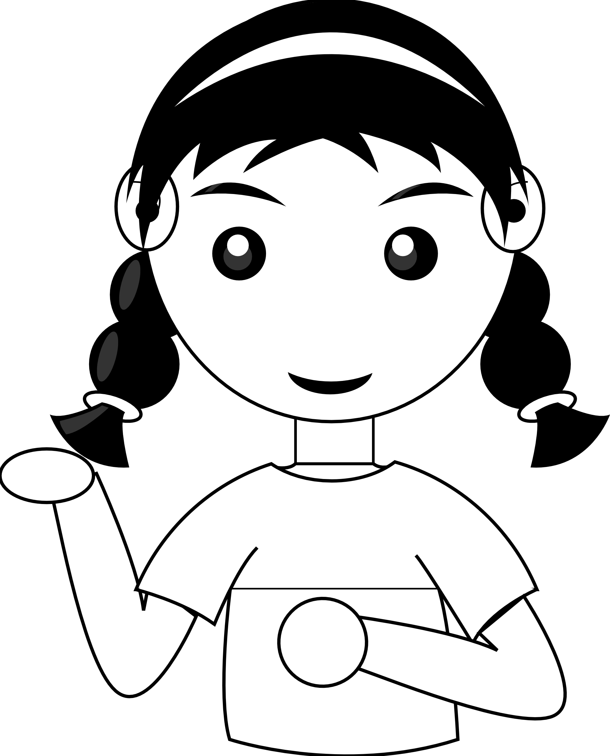 Woman Face Line Drawing Png : Cute snake clipart black and white panda free
