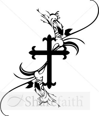 Catholic Confirmation Clip Art Baptism cross clipart black