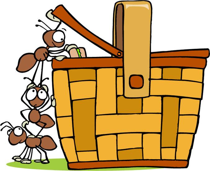Picnic Basket Graphic : Picnic clip art ants clipart panda free images