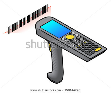 A hand held barcode scanner | Clipart Panda - Free Clipart ...