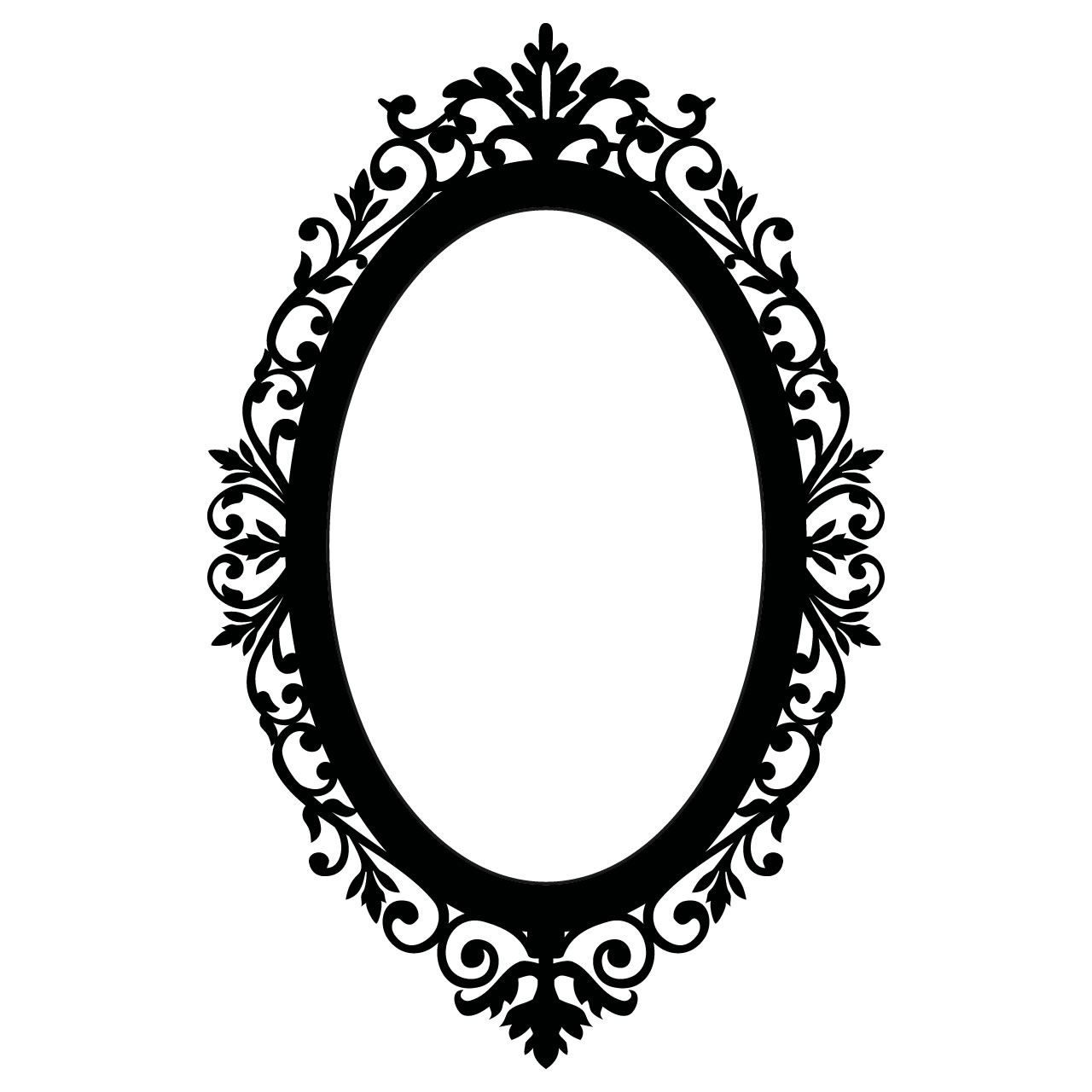 Mirror Frame Drawings Antique Oval Frame