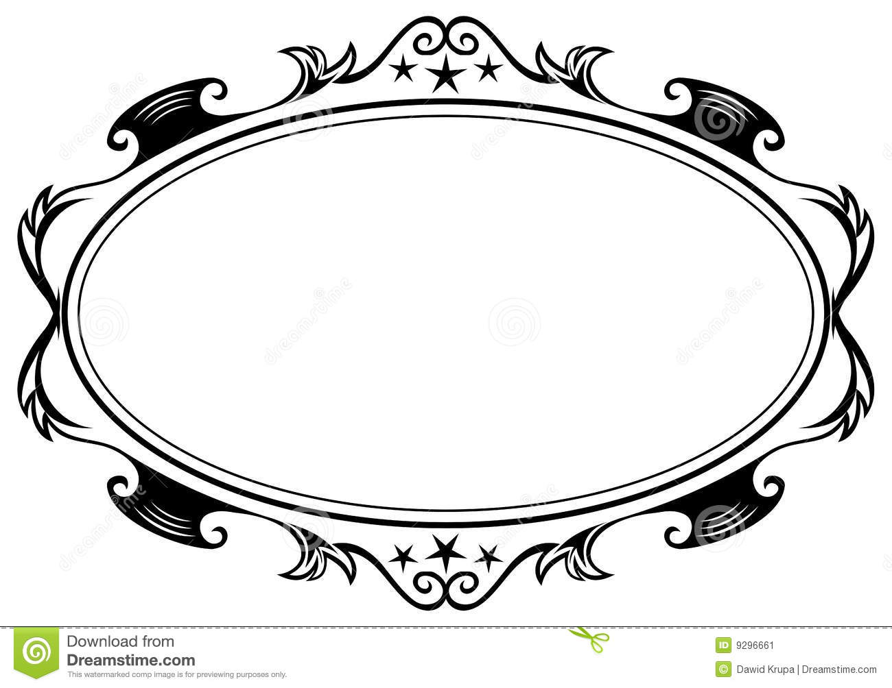 Antique Oval Frame Silhouette