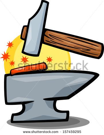 Anvil clipart clipart panda free clipart images - Comment dessiner un marteau ...
