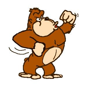 and gorilla clip art