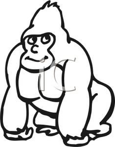 Baby Monkey Clip Art Black And White | Clipart Panda ...