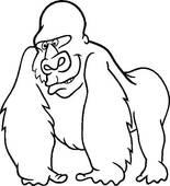 Gorilla Clip Art Black And White | Clipart Panda - Free ...