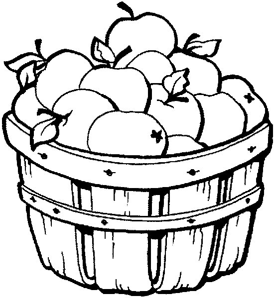 Basket Clip Art Black And White : Apple basket clipart panda free images