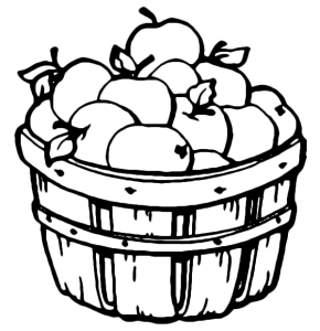 Apple Basket Coloring Page Pages