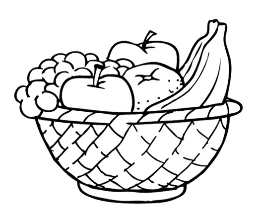 Apple Basket Coloring Page Clipart Panda Free