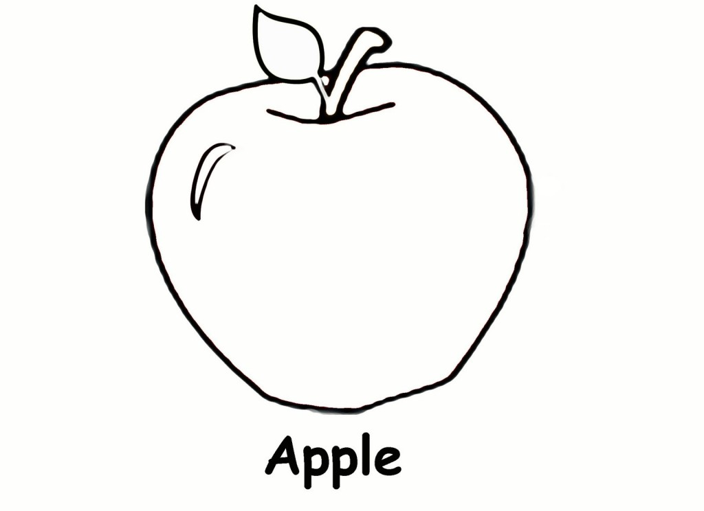Free Apple Tree Coloring Pages Coloring Page Of An Apple