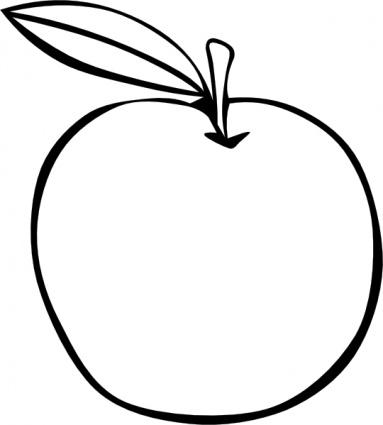 apple%20clip%20art%20black%20and%20white