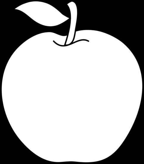 Line Art Apple : Apple clipart black and white panda free