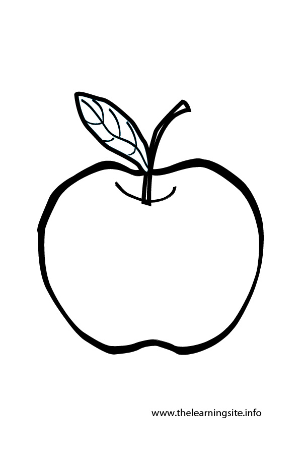 Fruits Outline Colouring Pages