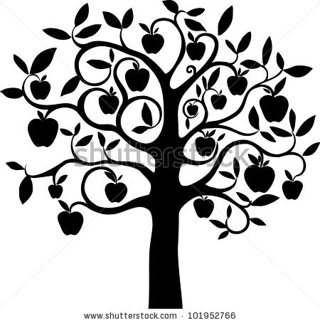 apple%20tree%20clipart%20black%20and%20white