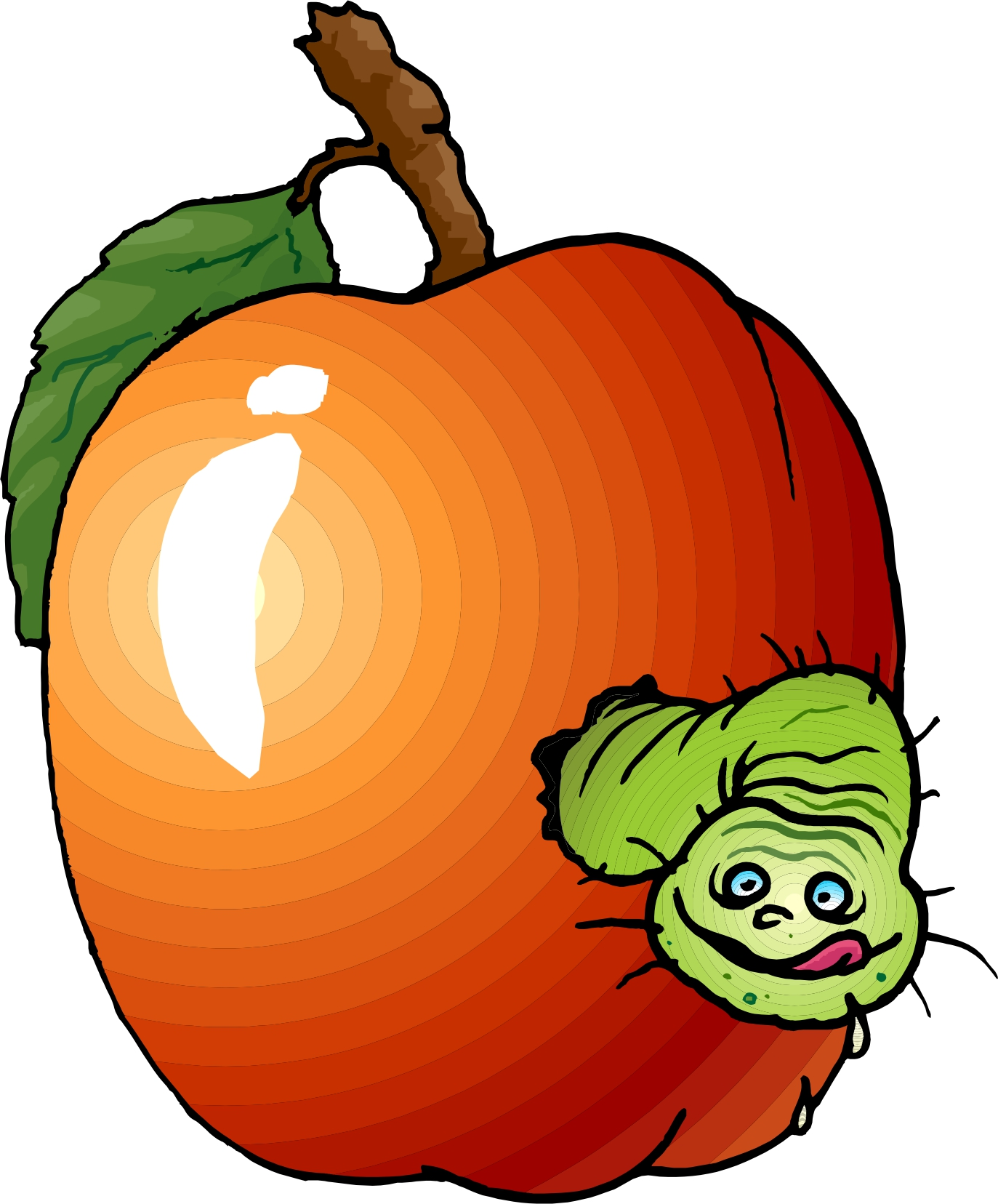 clipart apple worm - photo #24