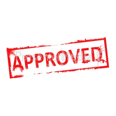 Approval Clipart Approved Rubber Stamp