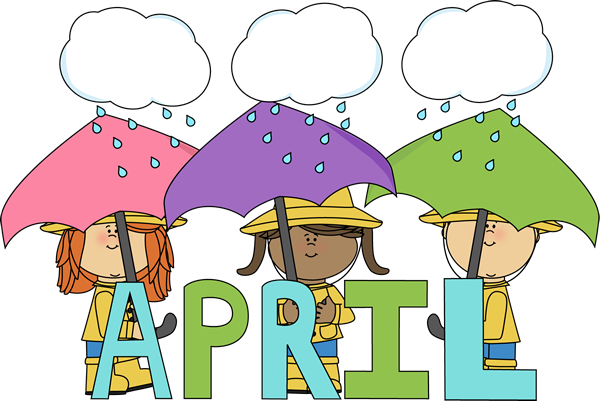 April umbrella. Clip art month of