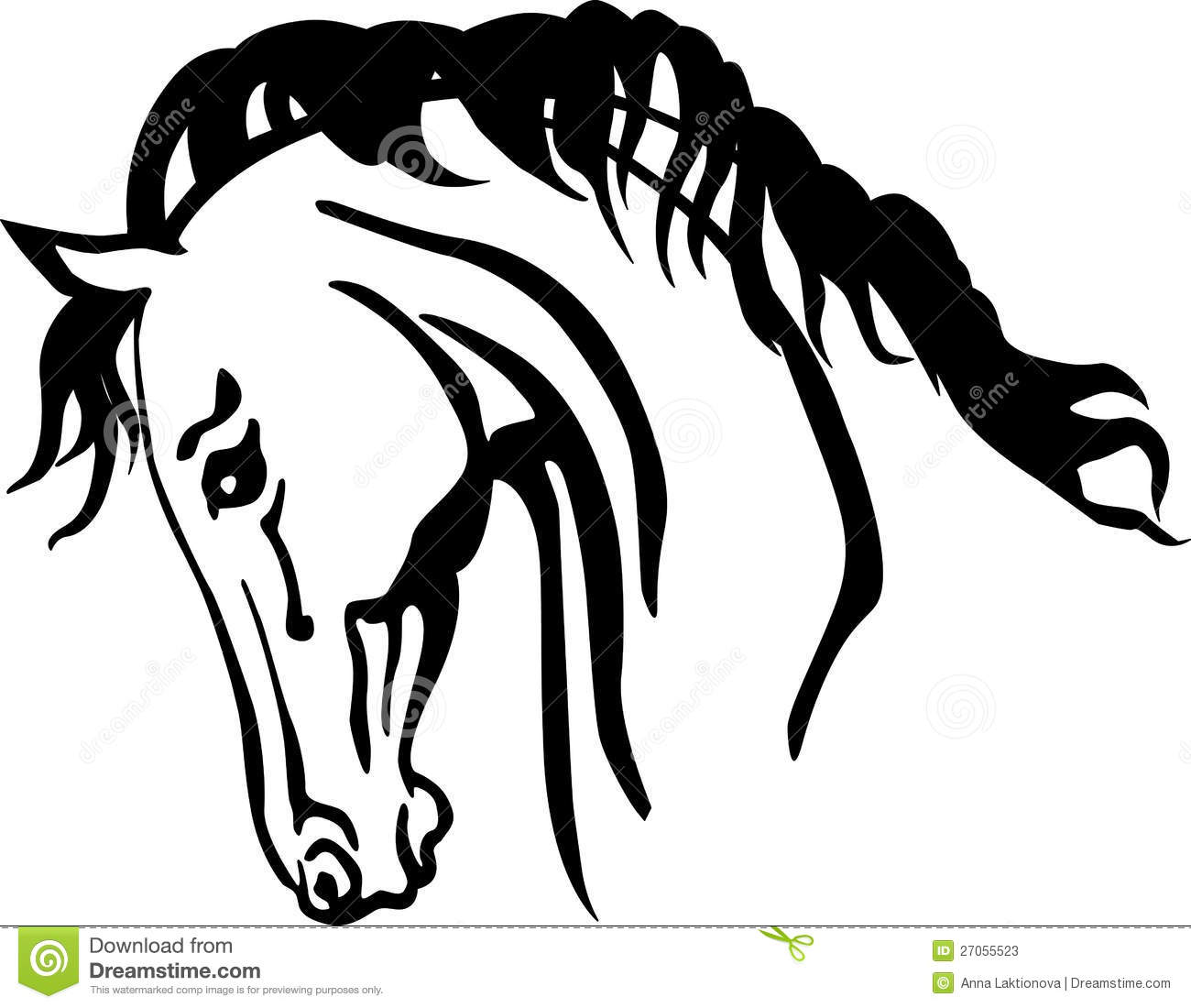 Arabian horse head clipart - photo#6