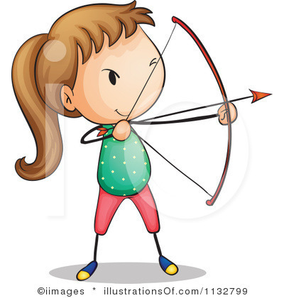 Girl archery clipart
