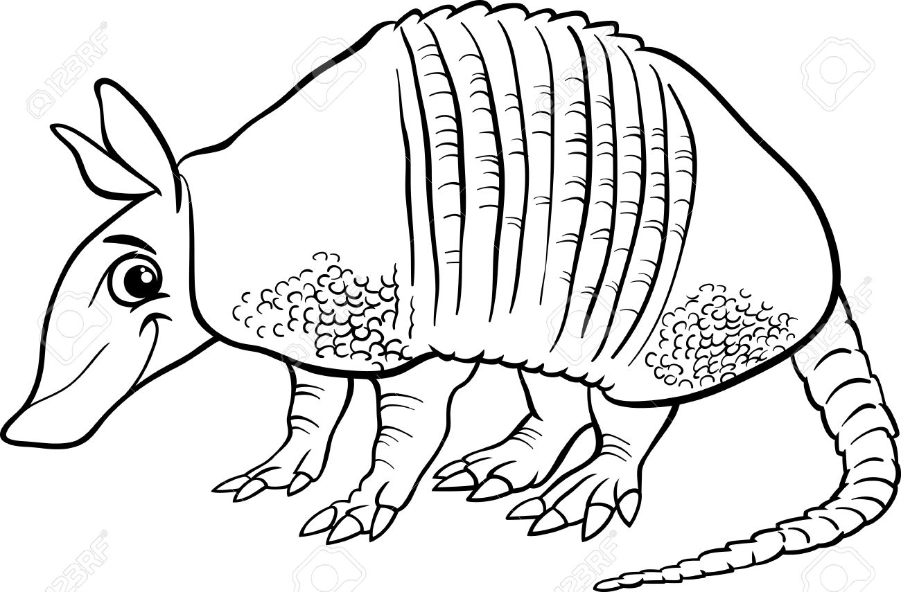 coloring pages of armidillos - photo#23