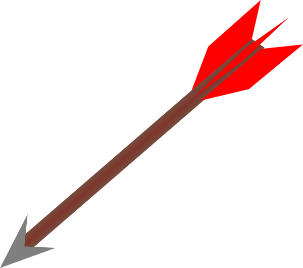 free feathered arrow clip art - photo #6