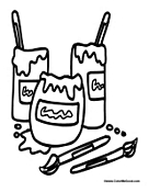 free art supply coloring pages | Art Supplies Coloring Pages | Clipart Panda - Free Clipart ...