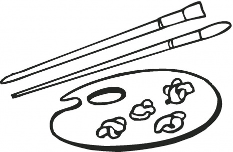 - Art Supplies Coloring Pages - COLORING PIC