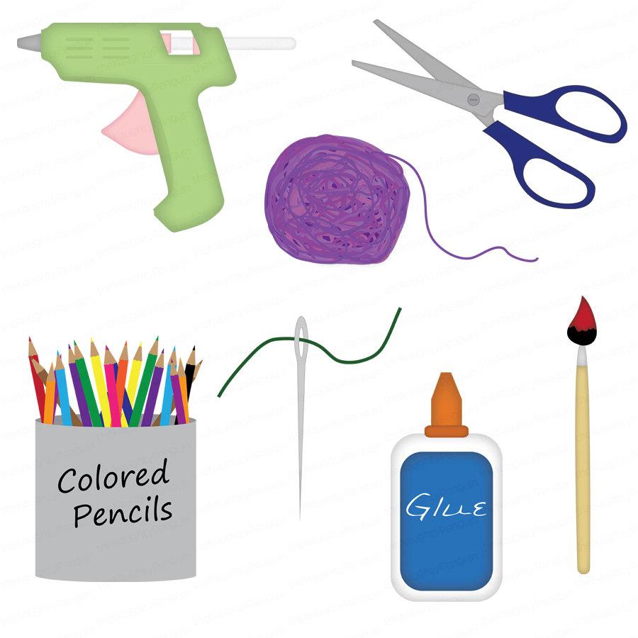 Craft Supplies Cartoon