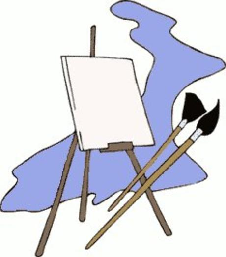 Artist Easel And Paints