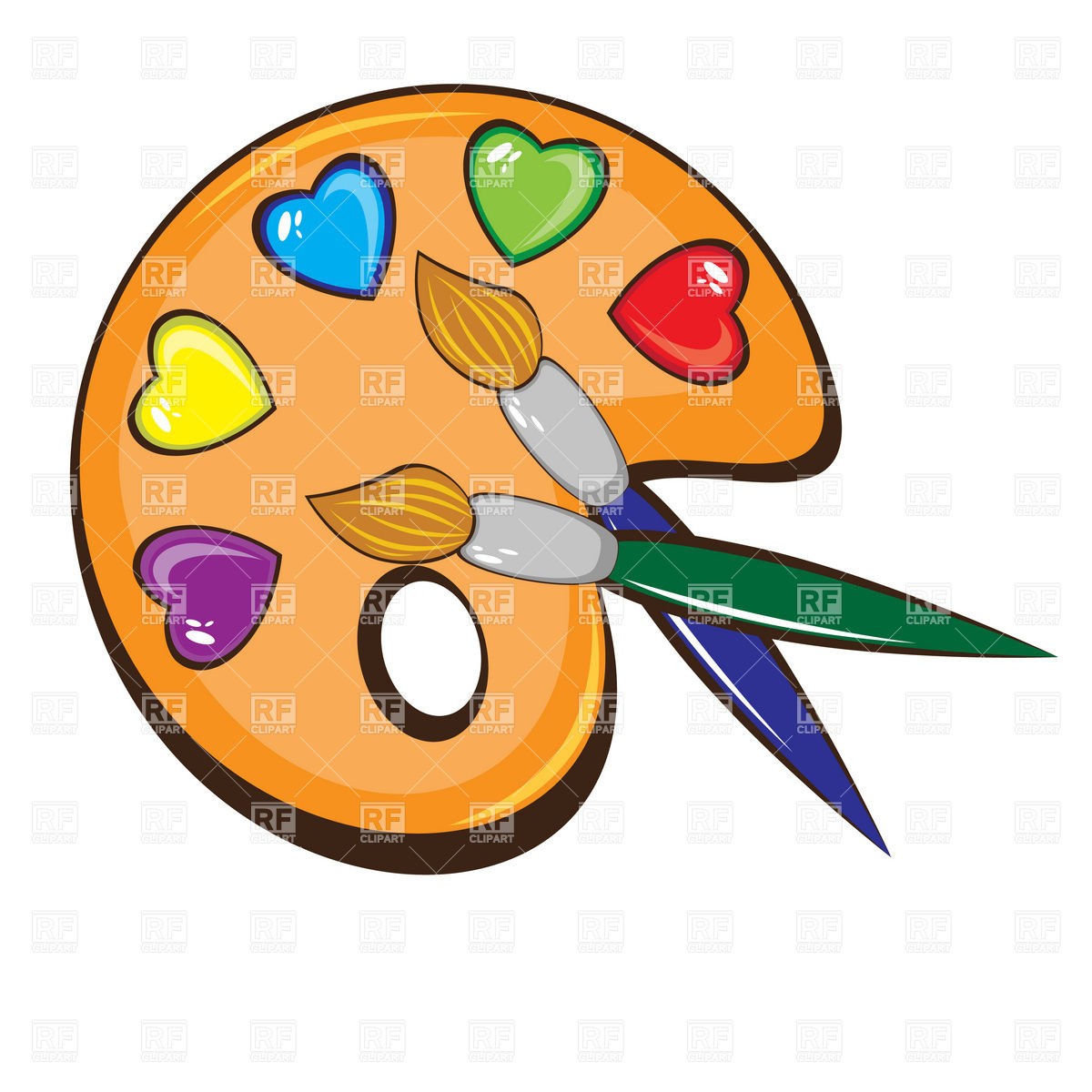 artist paint brush clip art clipart panda free clipart art easel clip art to color Paint Brush Clip Art