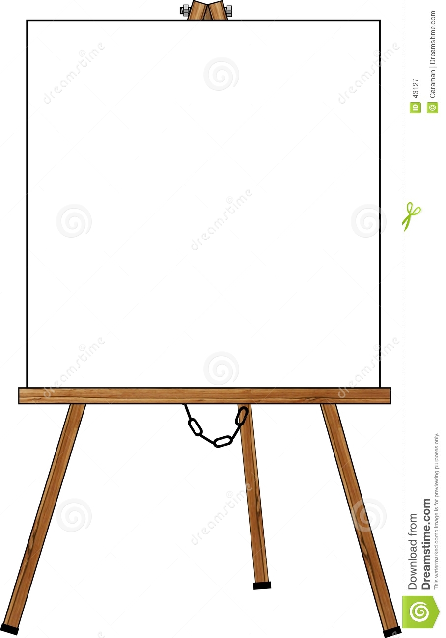 blank poster on an easel clipart panda free clipart images