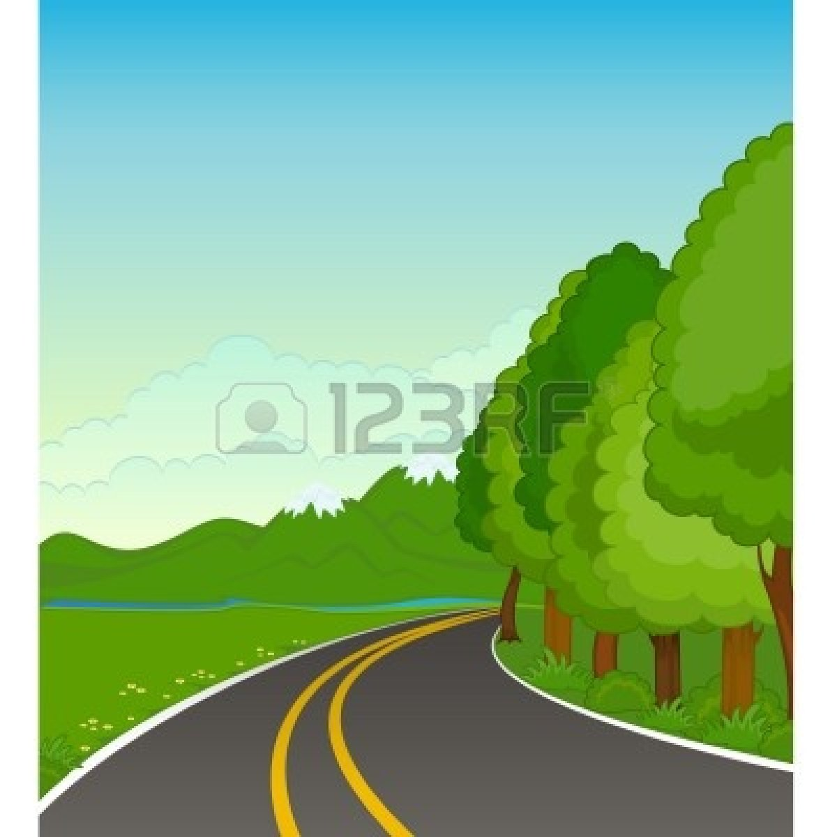 Country Road Background Clip Art