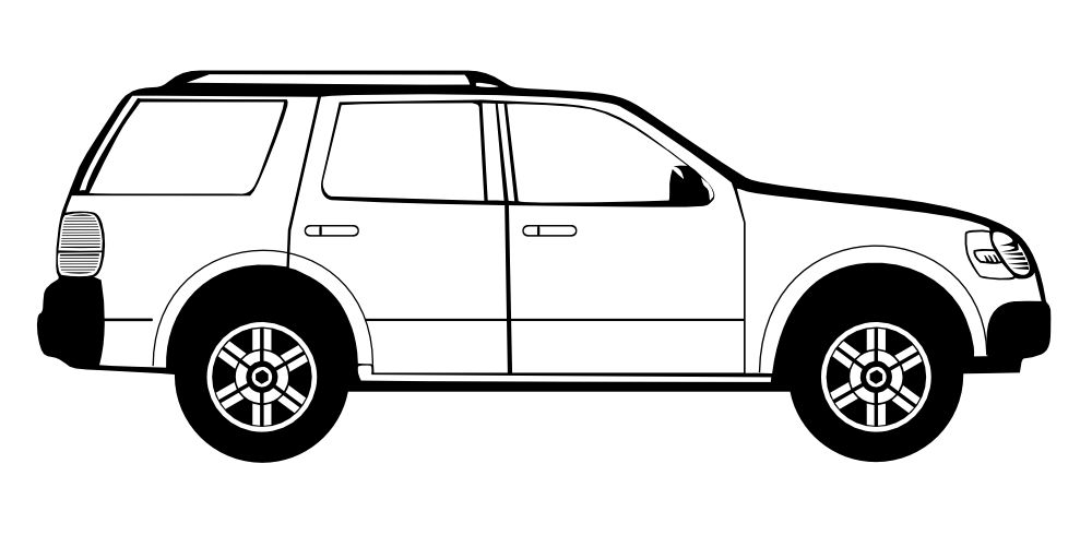 Car side view. Clipart panda free images