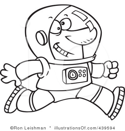 astronaut clip art black and white - photo #23