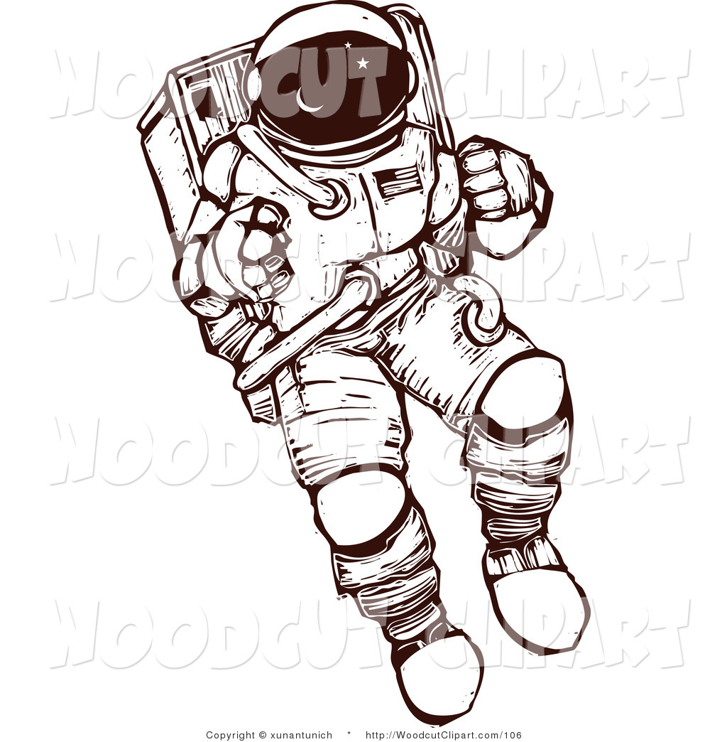 detailed drawings of astronauts - photo #18