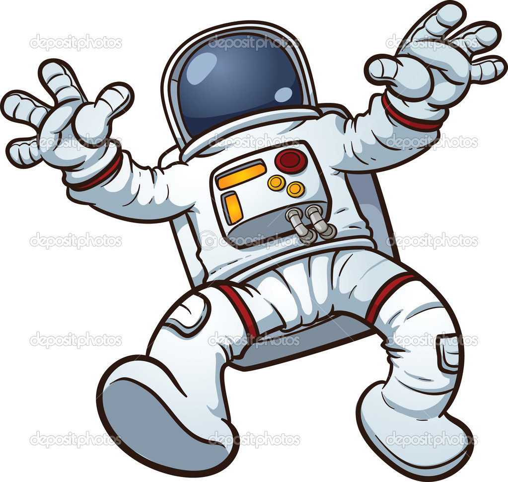 astronaut floating in space clipart - photo #25