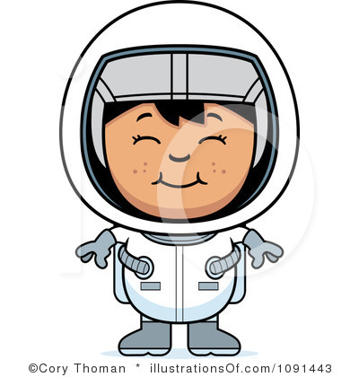 Image result for cartoon girl astronaut