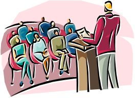 Image result for lecture - clipart