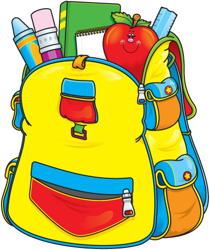 Image result for school backpack clipart