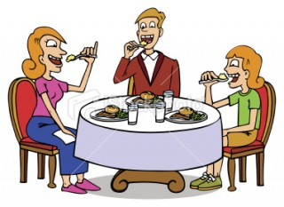 free clipart family meal - photo #28