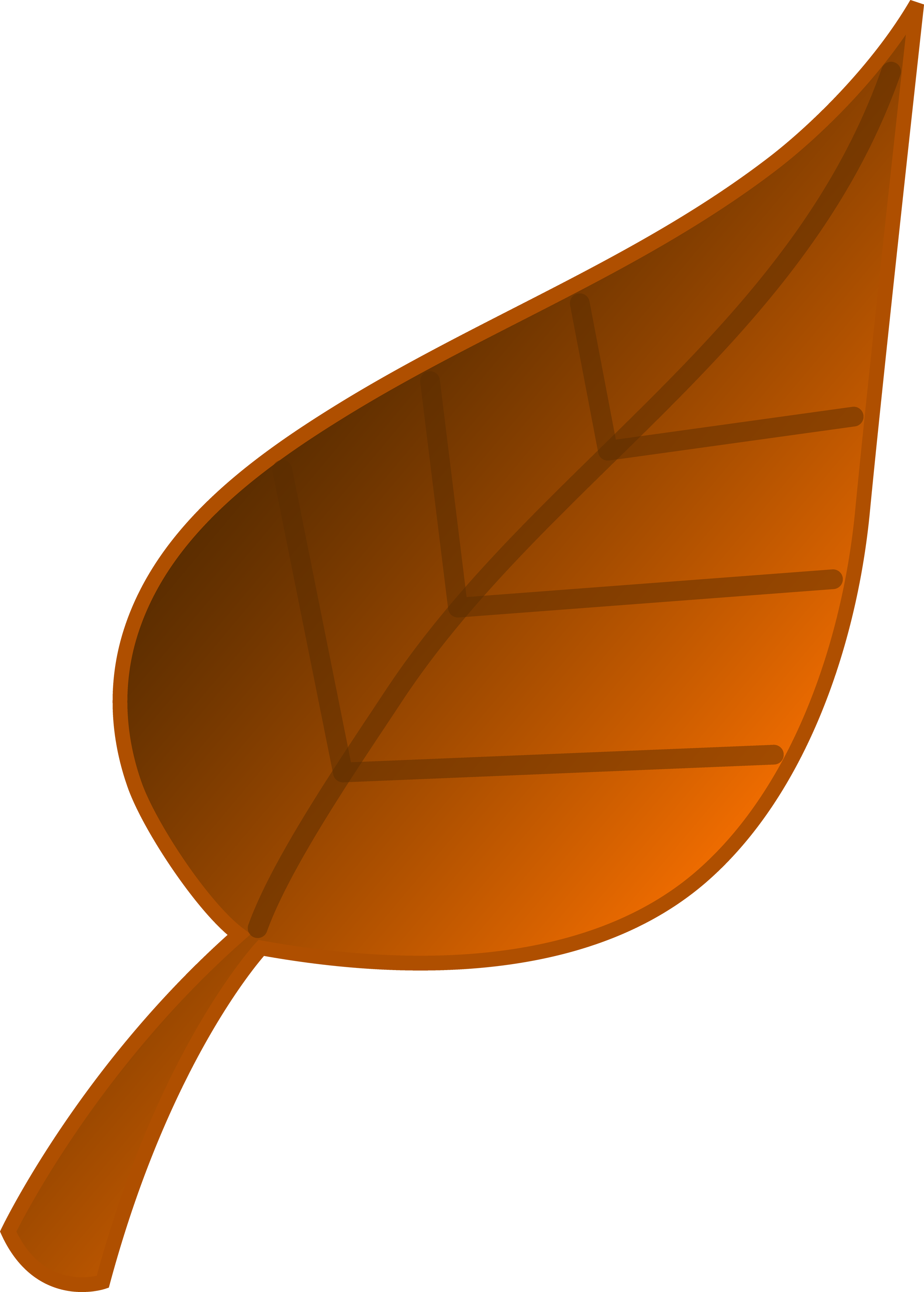Brown Fall Leaf Clipart | Clipart Panda - Free Clipart Images