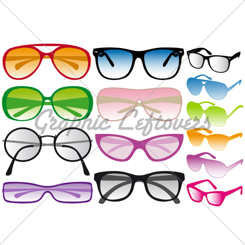 Aviator sunglasses vector