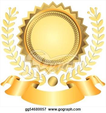Award ribbon; Golden award